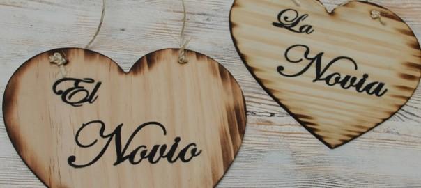 letreros de madera para bodas